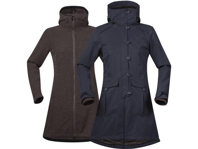 Bergans Bjerke 3in1 Coat Damen outer:dark navy/inner:cocoa mel